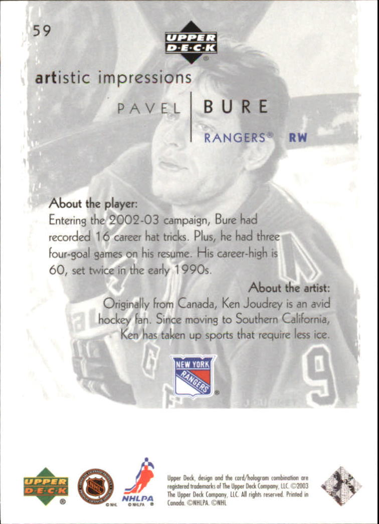 2002-03-UD-Artistic-Impressions-Hockey-Cards-Pick-From-List miniature 107