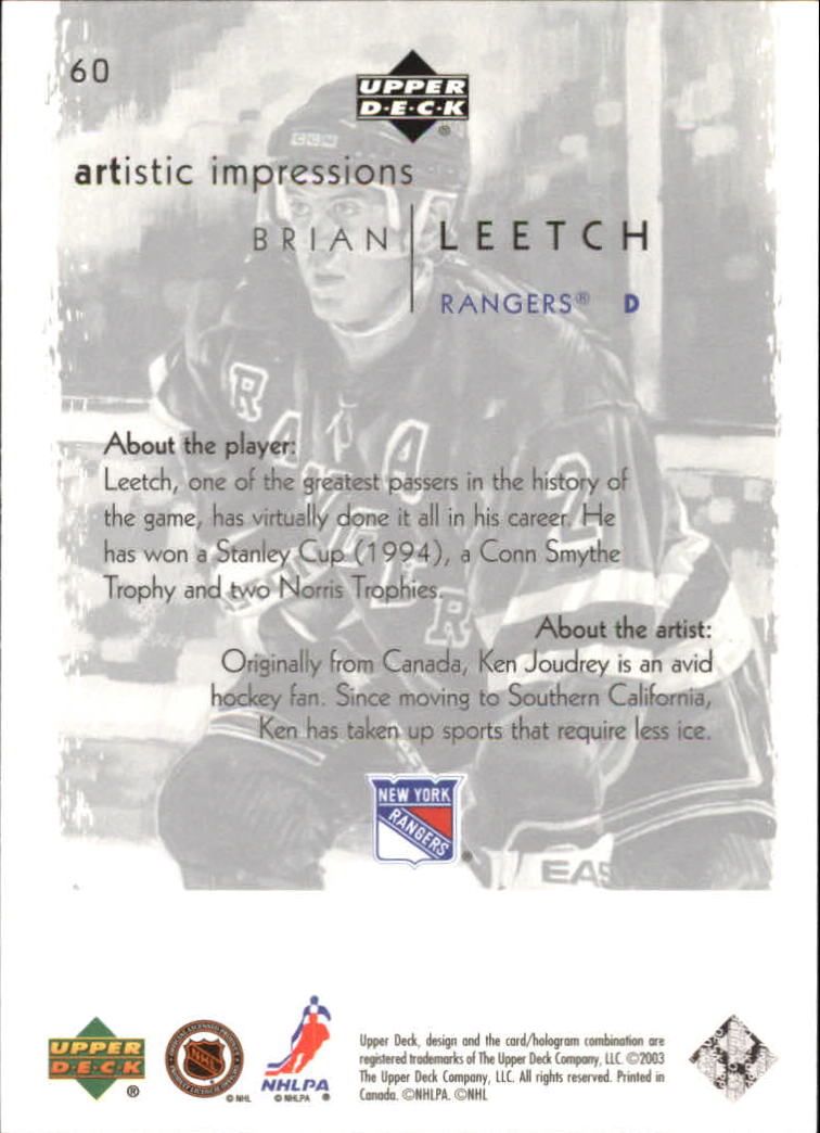 2002-03-UD-Artistic-Impressions-Hockey-Cards-Pick-From-List miniature 109