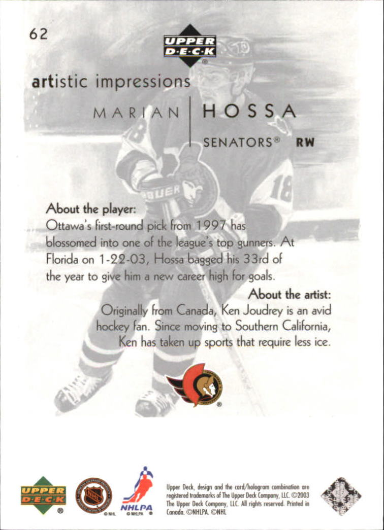 2002-03-UD-Artistic-Impressions-Hockey-Cards-Pick-From-List miniature 113
