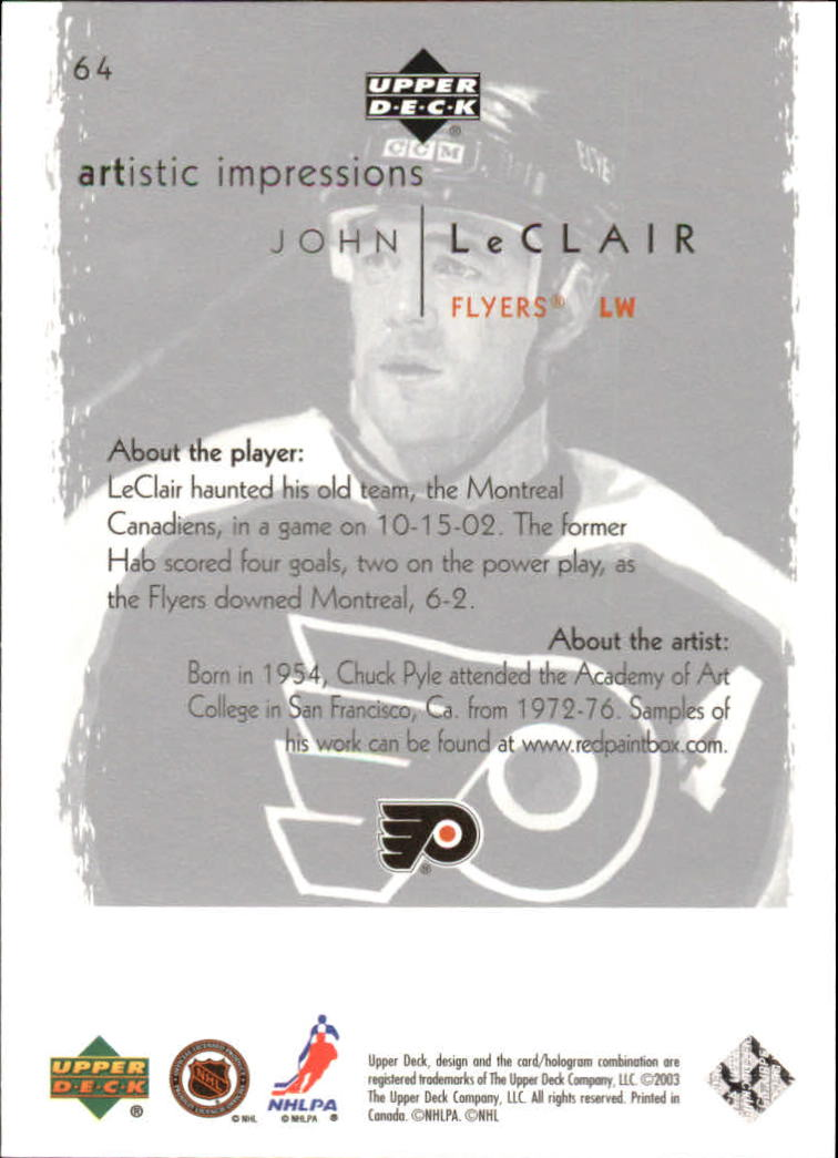 2002-03-UD-Artistic-Impressions-Hockey-Cards-Pick-From-List miniature 117