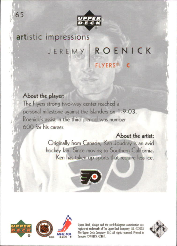 2002-03-UD-Artistic-Impressions-Hockey-Cards-Pick-From-List miniature 119