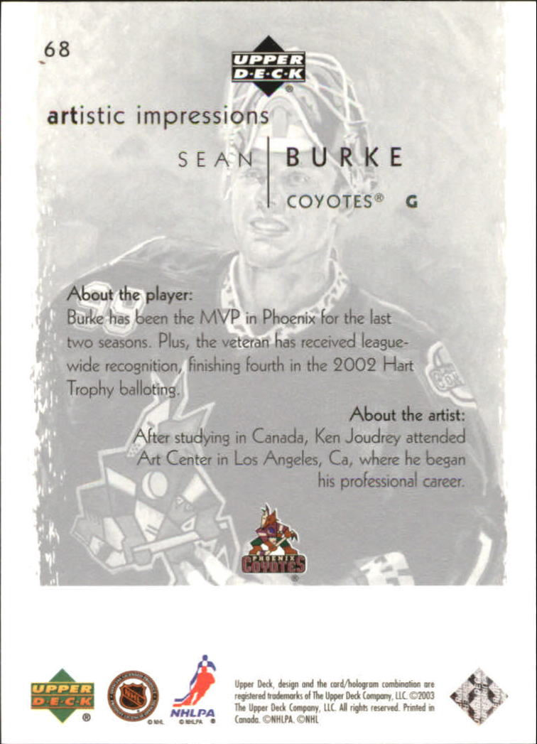 2002-03-UD-Artistic-Impressions-Hockey-Cards-Pick-From-List miniature 123