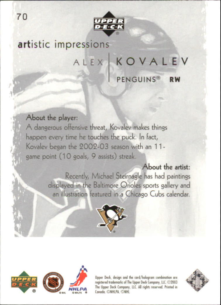 2002-03-UD-Artistic-Impressions-Hockey-Cards-Pick-From-List miniature 127