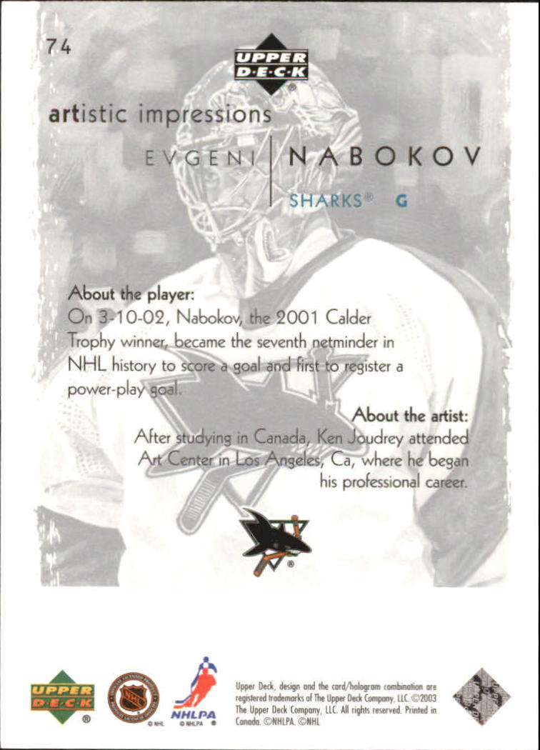 2002-03-UD-Artistic-Impressions-Hockey-Cards-Pick-From-List miniature 131