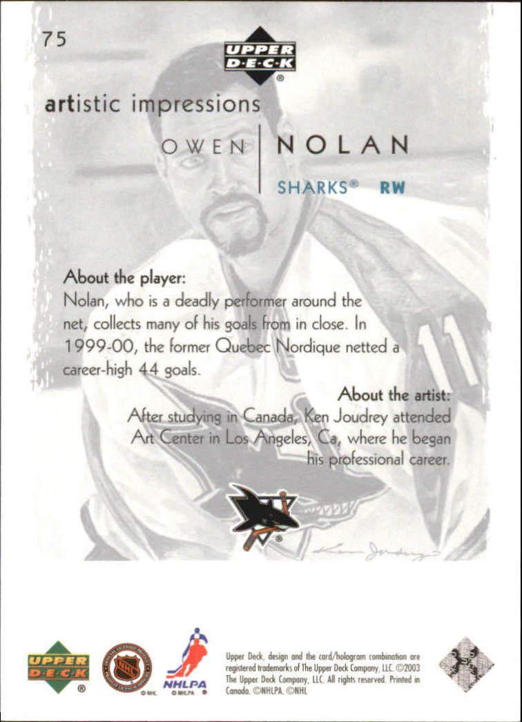 2002-03-UD-Artistic-Impressions-Hockey-Cards-Pick-From-List miniature 133