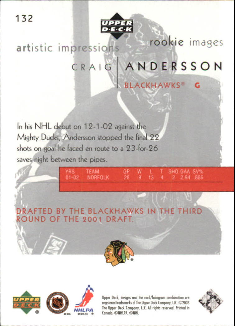 2002-03-UD-Artistic-Impressions-Hockey-Cards-Pick-From-List miniature 137