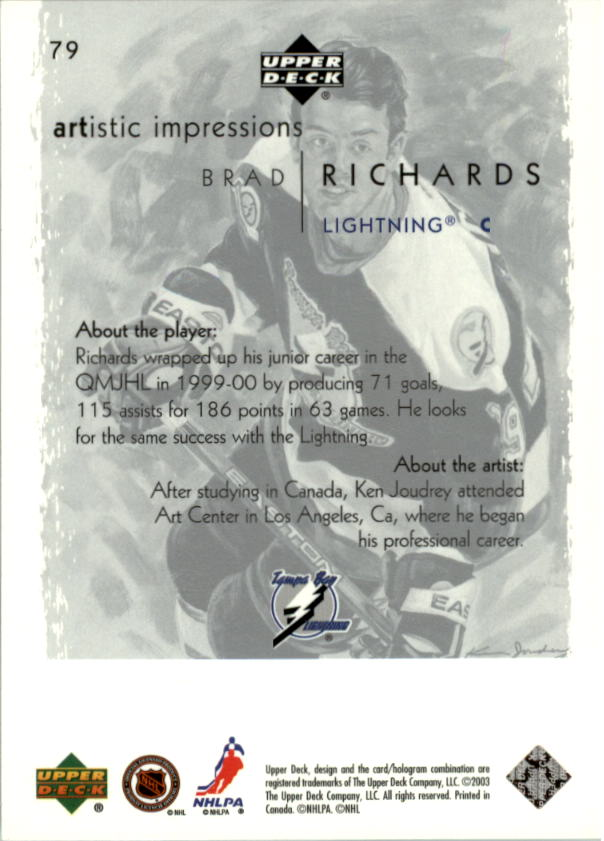 2002-03-UD-Artistic-Impressions-Hockey-Cards-Pick-From-List miniature 141