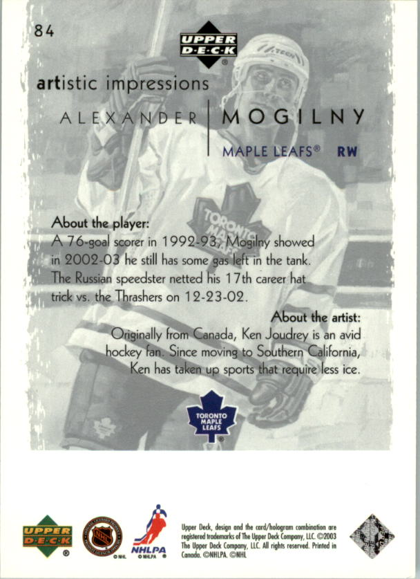 2002-03-UD-Artistic-Impressions-Hockey-Cards-Pick-From-List miniature 149