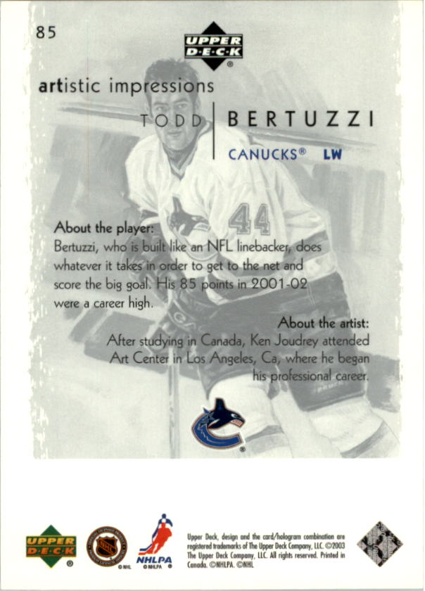 2002-03-UD-Artistic-Impressions-Hockey-Cards-Pick-From-List miniature 151