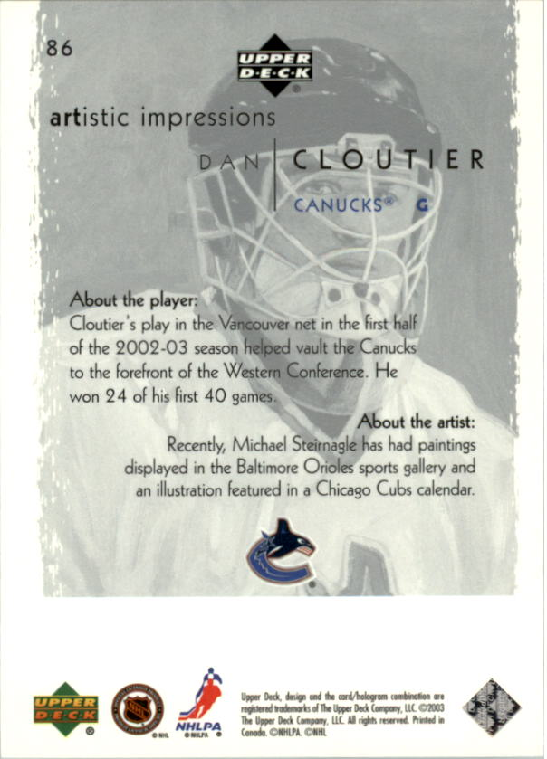 2002-03-UD-Artistic-Impressions-Hockey-Cards-Pick-From-List miniature 153