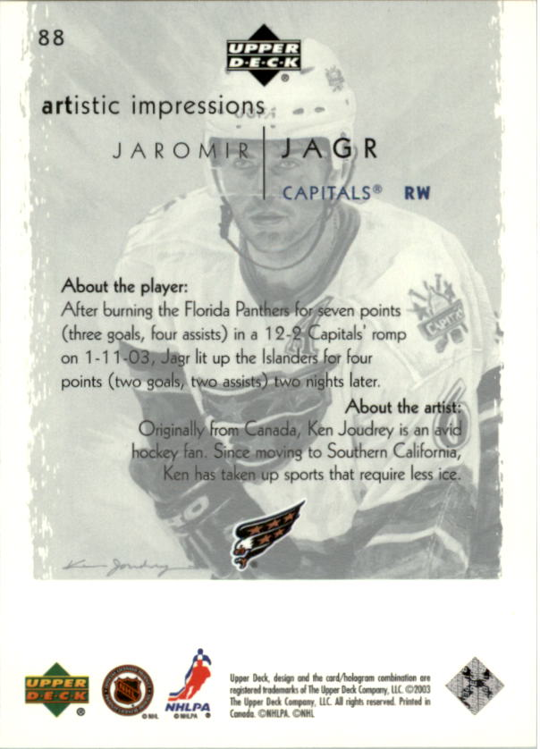 2002-03-UD-Artistic-Impressions-Hockey-Cards-Pick-From-List miniature 157