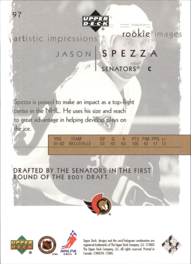2002-03-UD-Artistic-Impressions-Hockey-Cards-Pick-From-List miniature 163