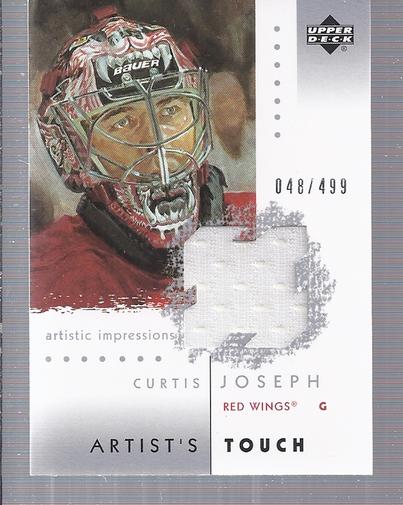 2002-03 UD Artistic Impressions Artist's Touch Jerseys #ATCJ Curtis Joseph