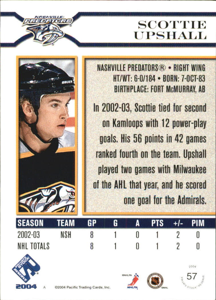 2003-04-Private-Stock-Reserve-Blue-Hockey-Card-Pick