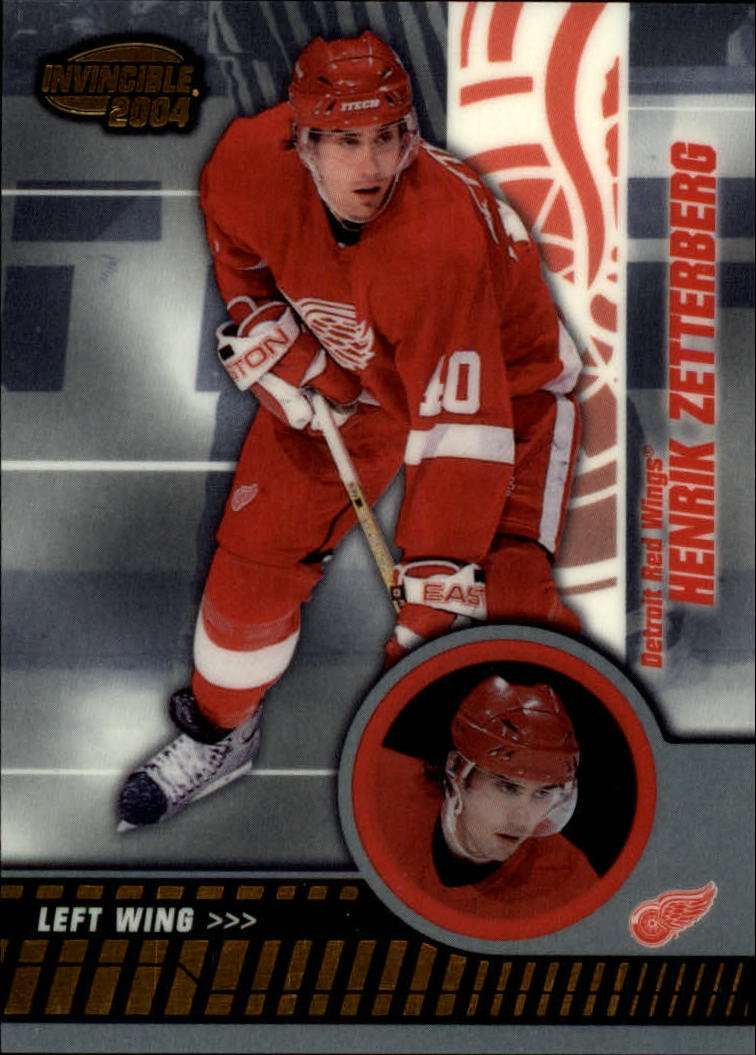 2003-04 Pacific Invincible #37 Henrik Zetterberg