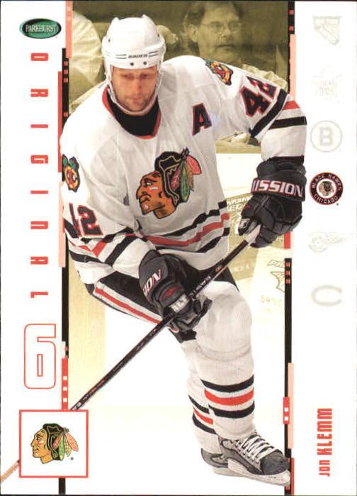 2003-04 Parkhurst Original Six Chicago #9 Jon Klemm