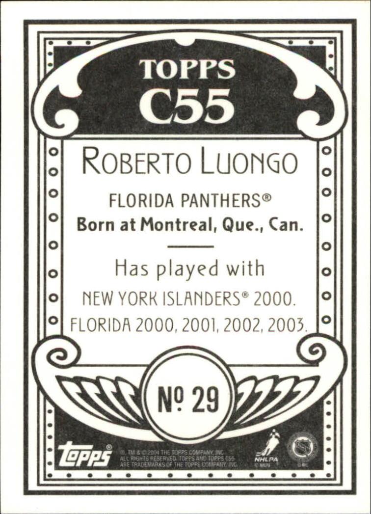 2003-04 Topps C55 #29 Roberto Luongo back image