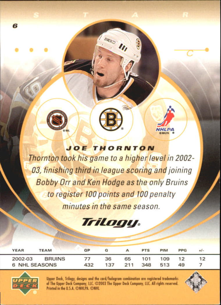 2003-04-Upper-Deck-Trilogy-Hockey-Cards-Pick-From-List thumbnail 11