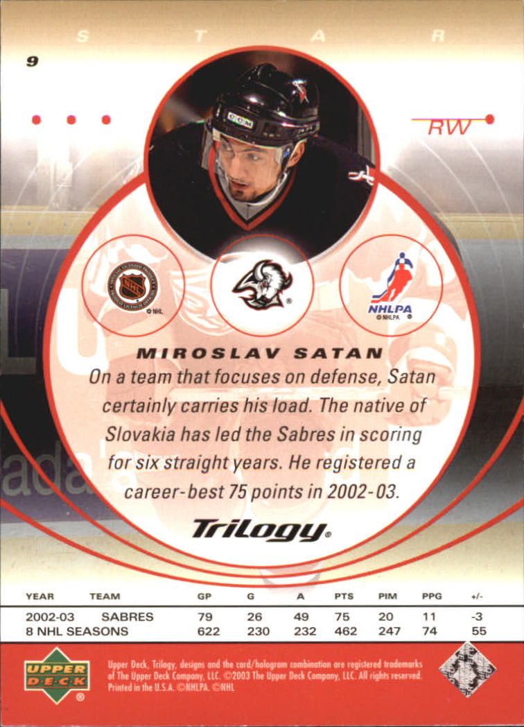 2003-04-Upper-Deck-Trilogy-Hockey-Cards-Pick-From-List thumbnail 15