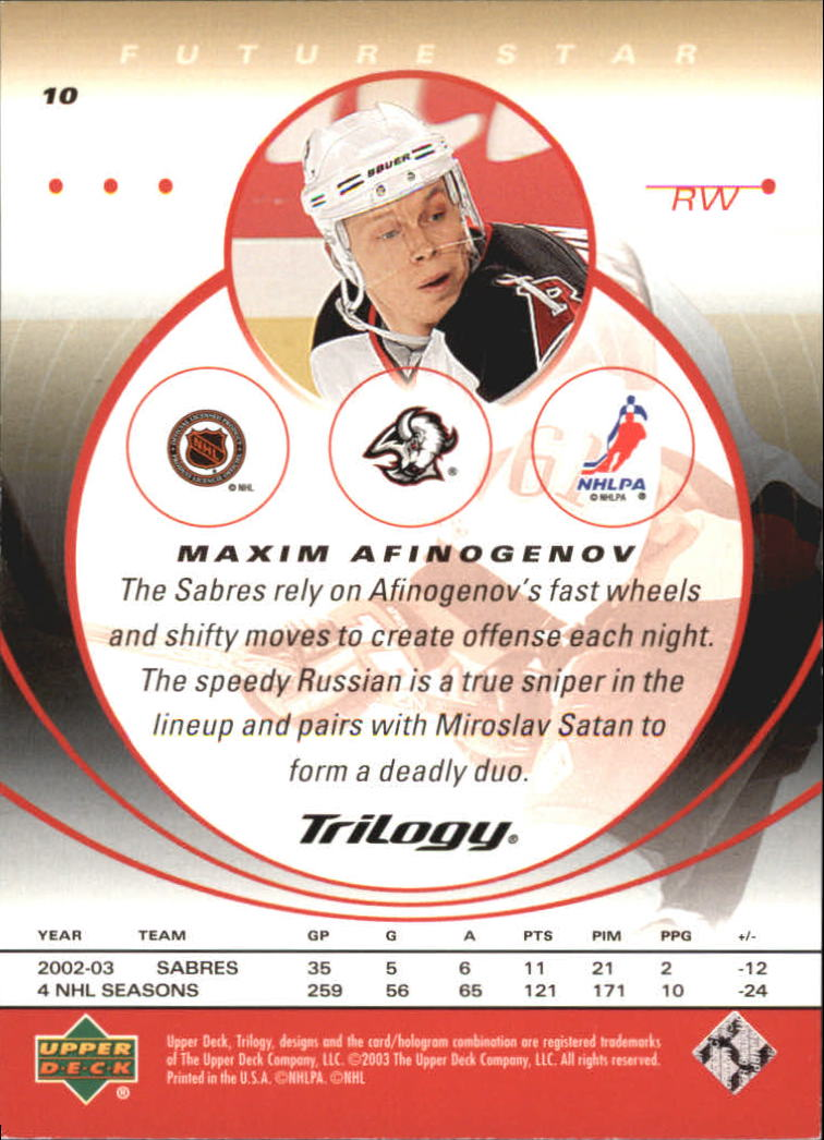 2003-04-Upper-Deck-Trilogy-Hockey-Cards-Pick-From-List thumbnail 17
