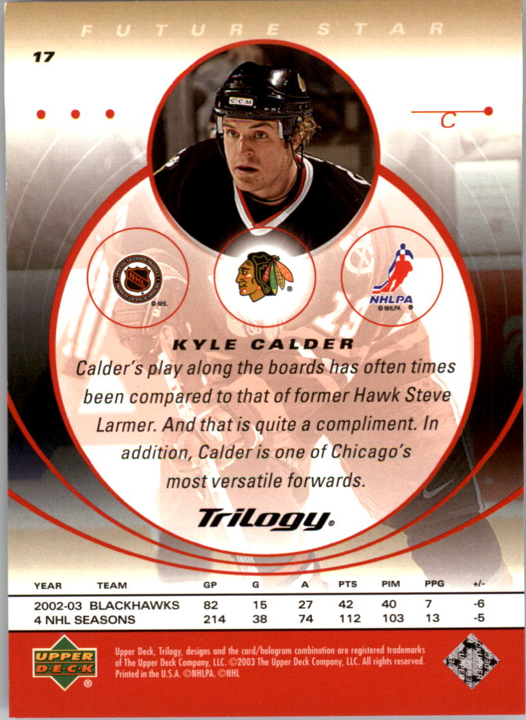 2003-04-Upper-Deck-Trilogy-Hockey-Cards-Pick-From-List thumbnail 29