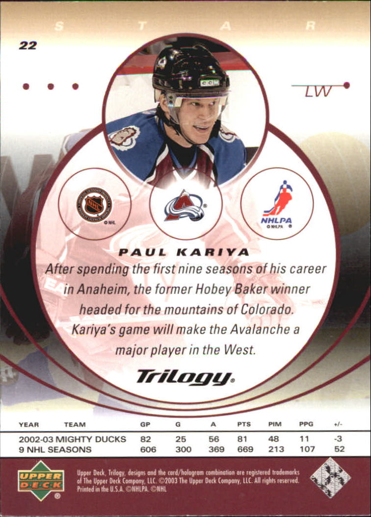 2003-04-Upper-Deck-Trilogy-Hockey-Cards-Pick-From-List thumbnail 37