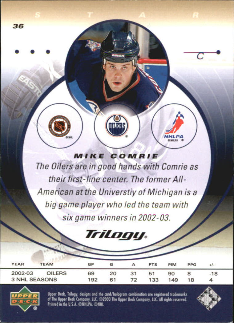 2003-04-Upper-Deck-Trilogy-Hockey-Cards-Pick-From-List thumbnail 57