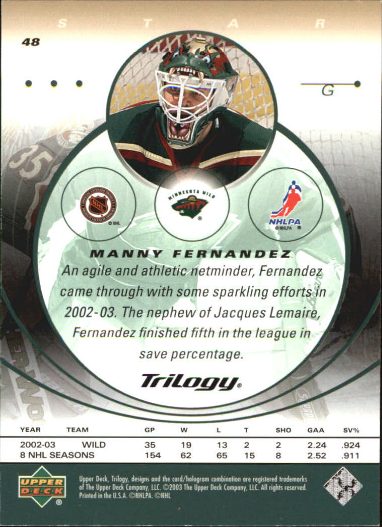 2003-04-Upper-Deck-Trilogy-Hockey-Cards-Pick-From-List thumbnail 77