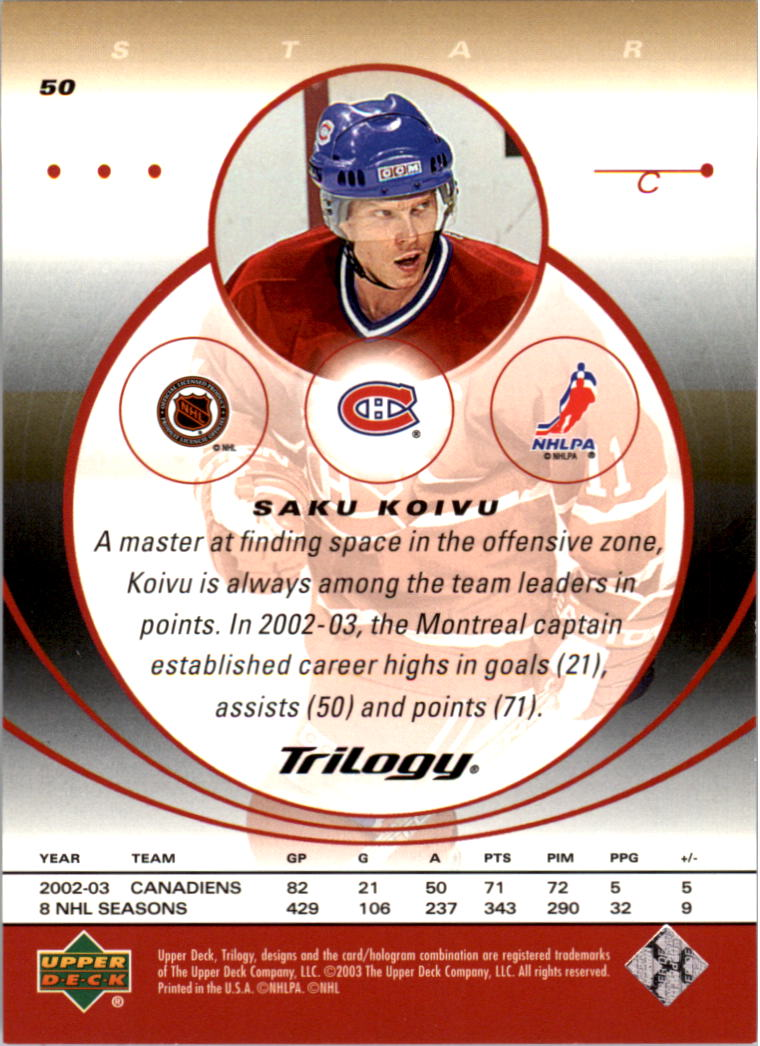 2003-04-Upper-Deck-Trilogy-Hockey-Cards-Pick-From-List thumbnail 81