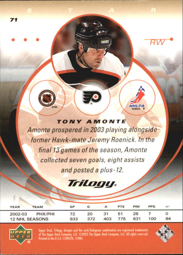 2003-04-Upper-Deck-Trilogy-Hockey-Cards-Pick-From-List thumbnail 107