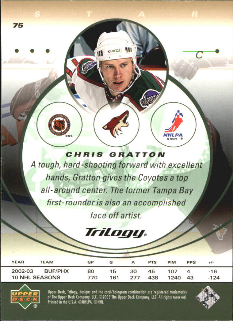 2003-04-Upper-Deck-Trilogy-Hockey-Cards-Pick-From-List thumbnail 113