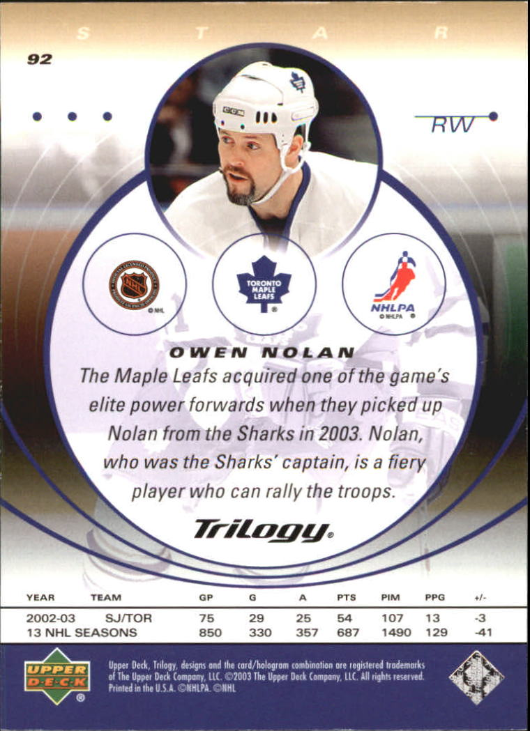 2003-04-Upper-Deck-Trilogy-Hockey-Cards-Pick-From-List thumbnail 143