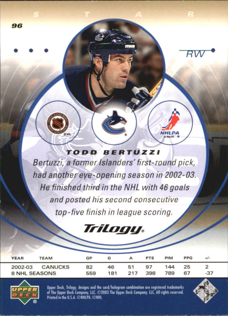 2003-04-Upper-Deck-Trilogy-Hockey-Cards-Pick-From-List thumbnail 145