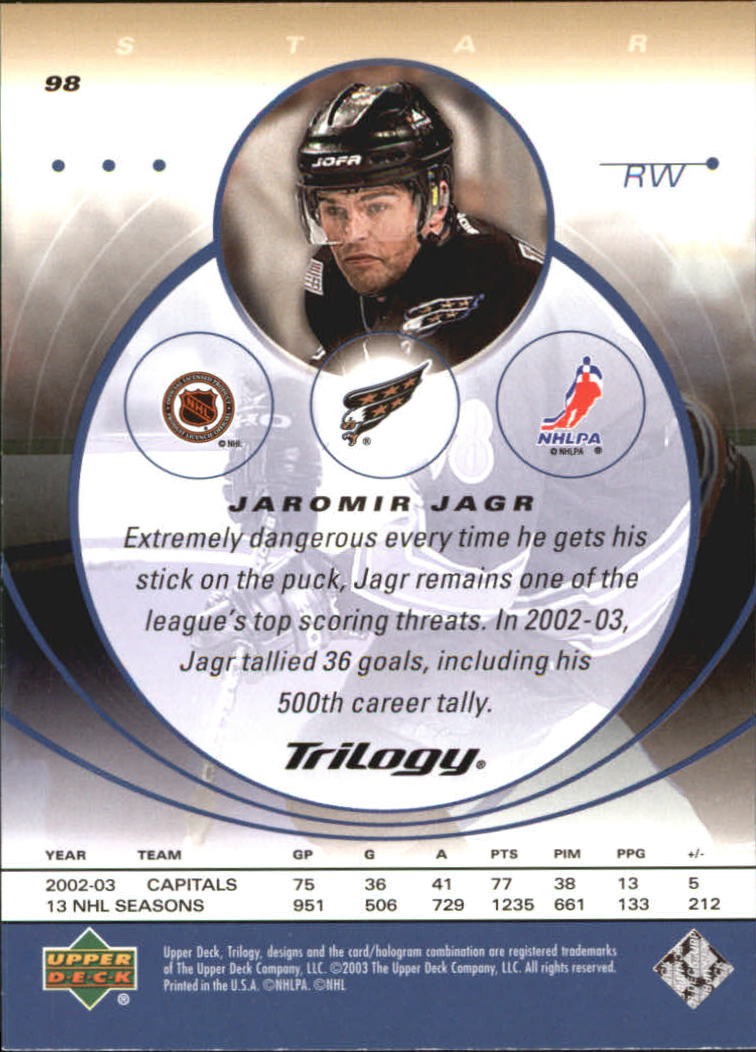 2003-04-Upper-Deck-Trilogy-Hockey-Cards-Pick-From-List thumbnail 149