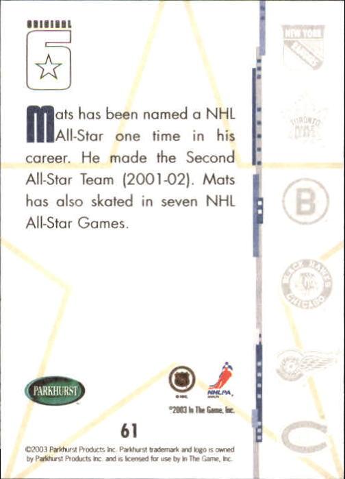 2003-04-Parkhurst-Original-Six-Toronto-Hockey-Cards-Pick-From-List