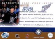 2003-04 Pacific Supreme Jerseys #25 Jaromir Jagr/500 back image