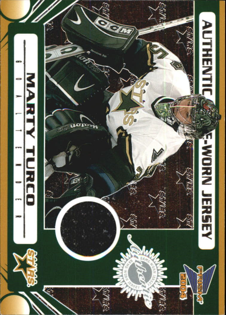 2003-04 Pacific Prism Retail Jerseys #115 Marty Turco