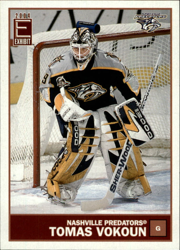 2003-04 Pacific Exhibit Yellow Backs #82 Tomas Vokoun
