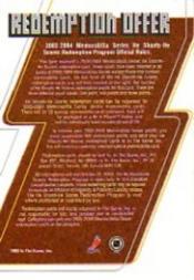 2003-04 BAP Memorabilia He Shoots He Scores Points #4 Markus Naslund 1 Pt. back image