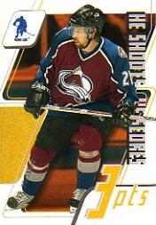 2003-04 BAP Memorabilia He Shoots He Scores Points #19 Peter Forsberg 3 Pts.
