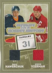 2004-05 ITG Ultimate Memorabilia Day In History #9 Dale Hawerchuk/Steve Yzerman