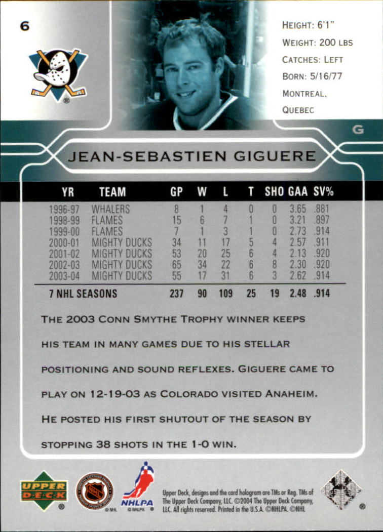 2004-05-Upper-Deck-Hockey-Cards-Pick-From-List thumbnail 13