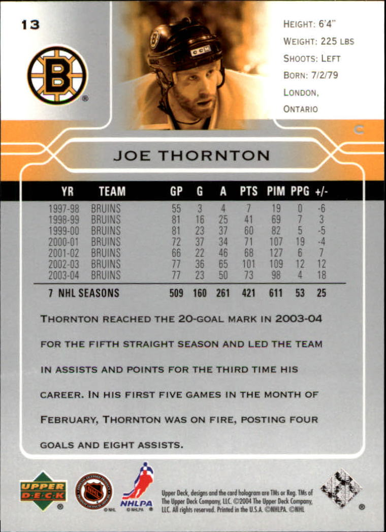 2004-05-Upper-Deck-Hockey-Cards-Pick-From-List thumbnail 27