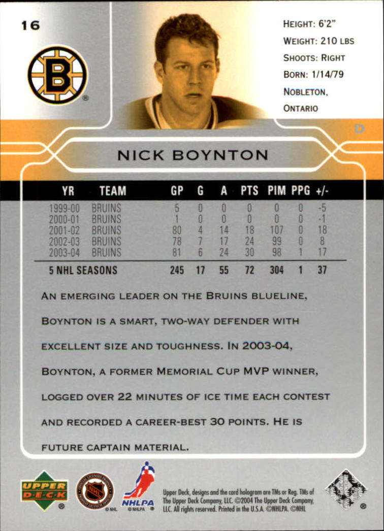 2004-05-Upper-Deck-Hockey-Cards-Pick-From-List thumbnail 31