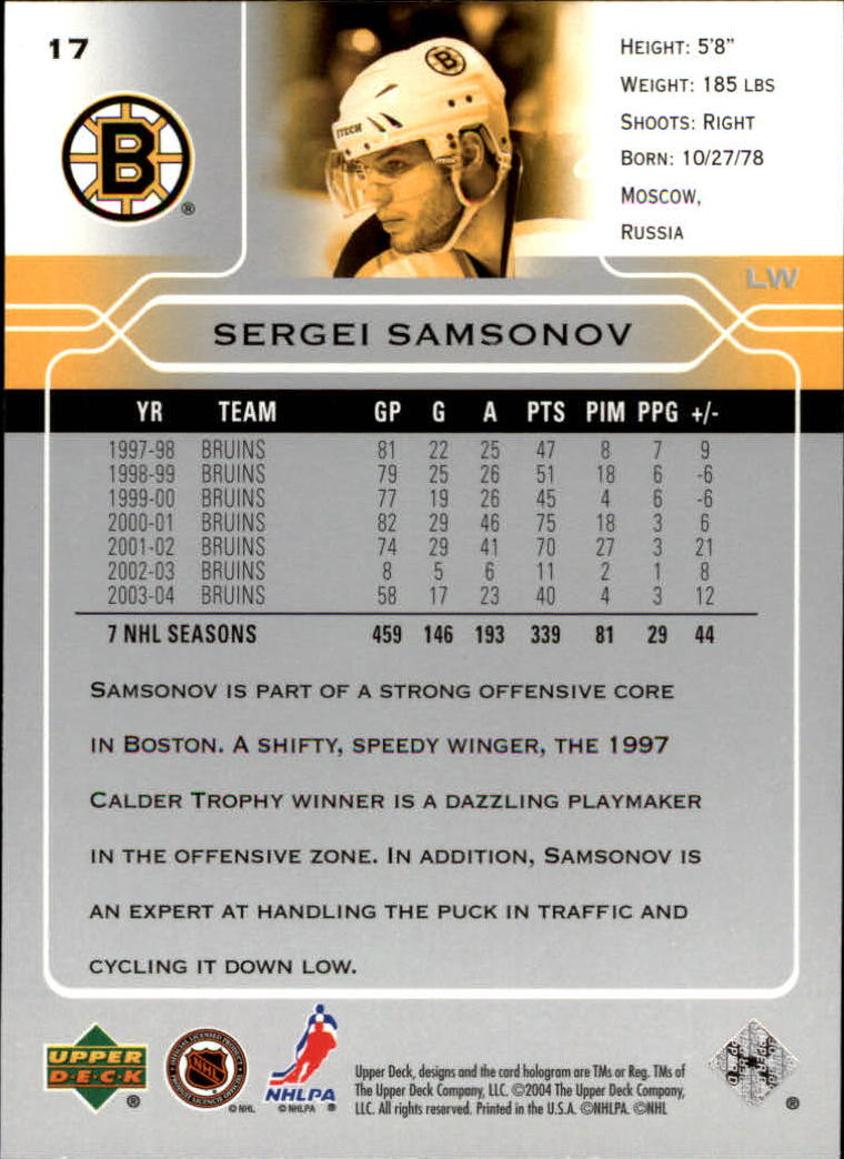 2004-05-Upper-Deck-Hockey-Cards-Pick-From-List thumbnail 33