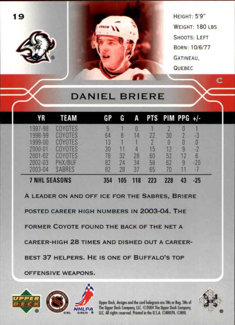 2004-05-Upper-Deck-Hockey-Cards-Pick-From-List thumbnail 35