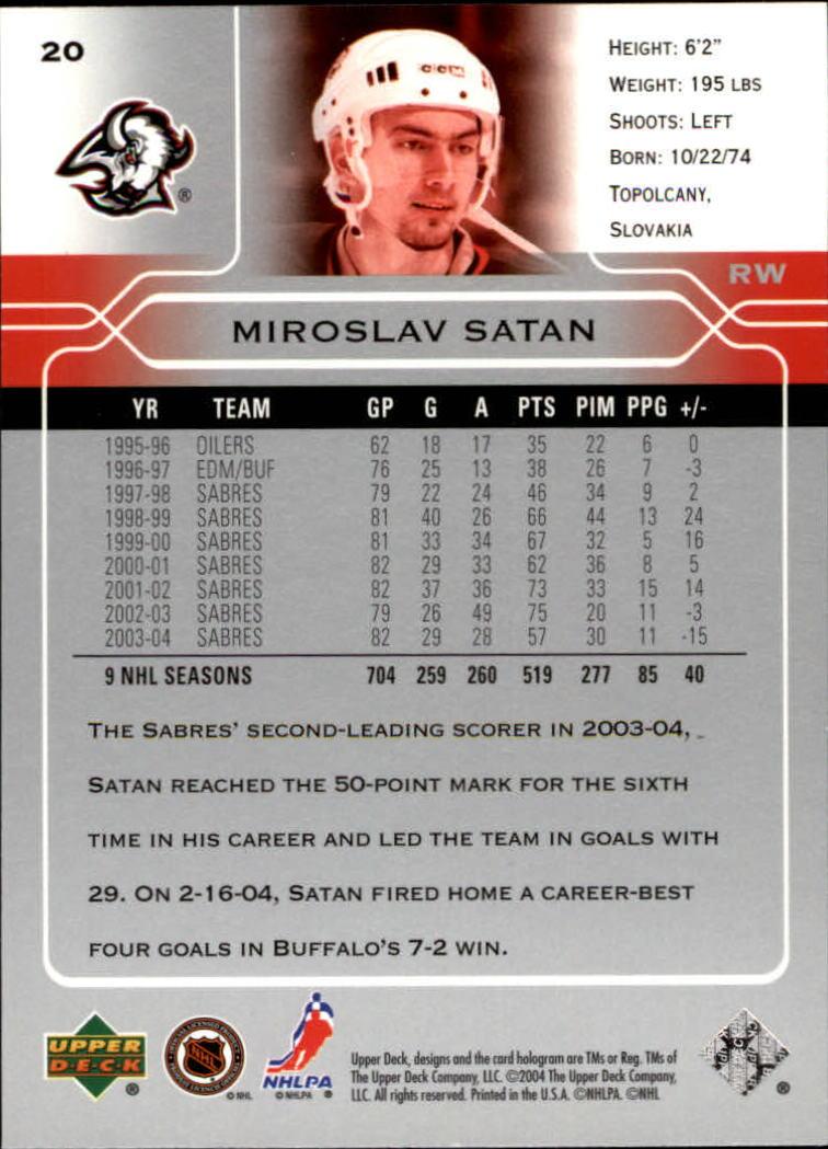 2004-05-Upper-Deck-Hockey-Cards-Pick-From-List thumbnail 37