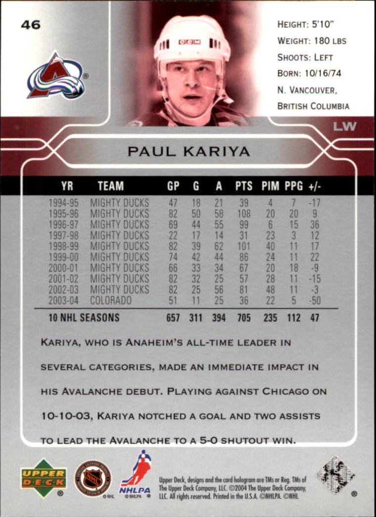 2004-05-Upper-Deck-Hockey-Cards-Pick-From-List thumbnail 87