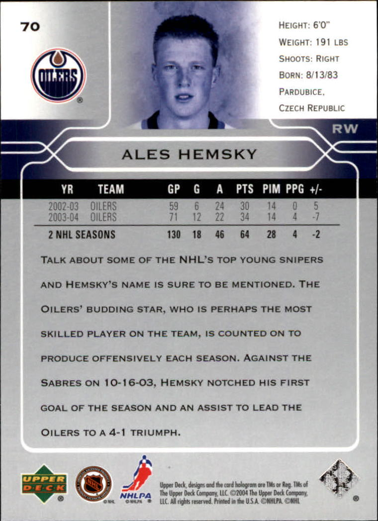 2004-05-Upper-Deck-Hockey-Cards-Pick-From-List thumbnail 131