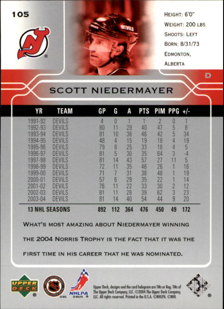 2004-05-Upper-Deck-Hockey-Cards-Pick-From-List thumbnail 195